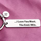 LQRI I Love You Most The End I Win Keychain