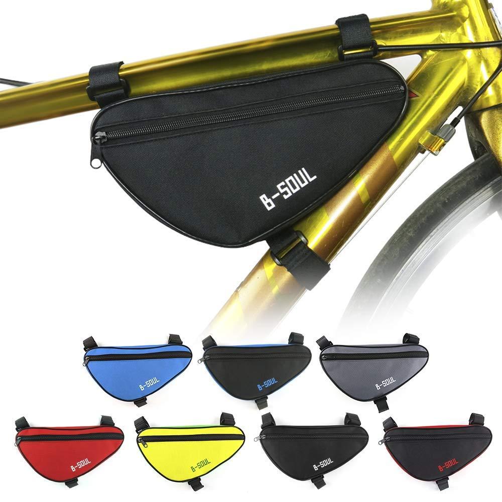 Lixada1 MTB フロントチューブバッグ ロードバイク トライアングルバッグ 自転車 サイクリング用バイクポーチ パニエ  ブラック B07H5BZ7ZT