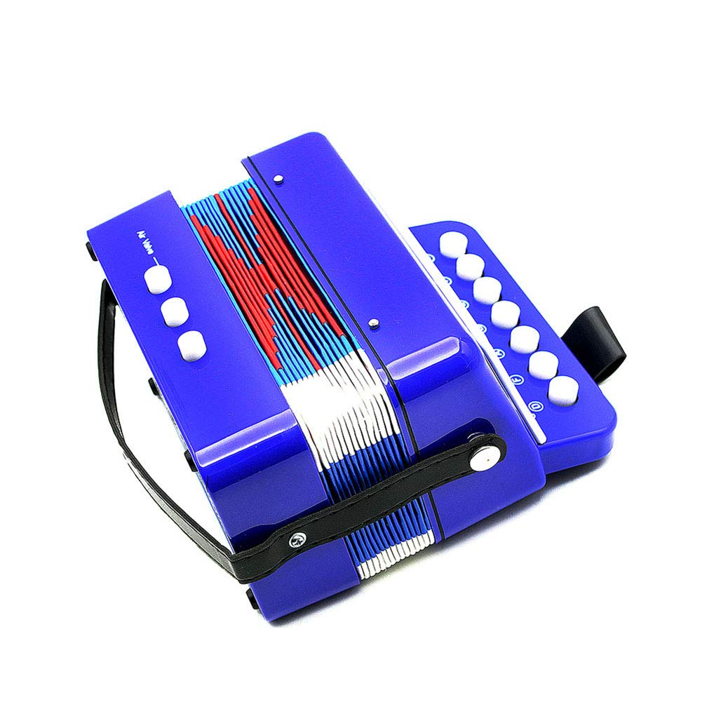 fosa Kid Accordion 7 Keys 2 Bass for Child, Safe ABS Material Mini Educational Musical Instrument Rhythm Toy Accordion for Child Beginner,Classic Instrument Lover,Musical Amateur, Best Gift