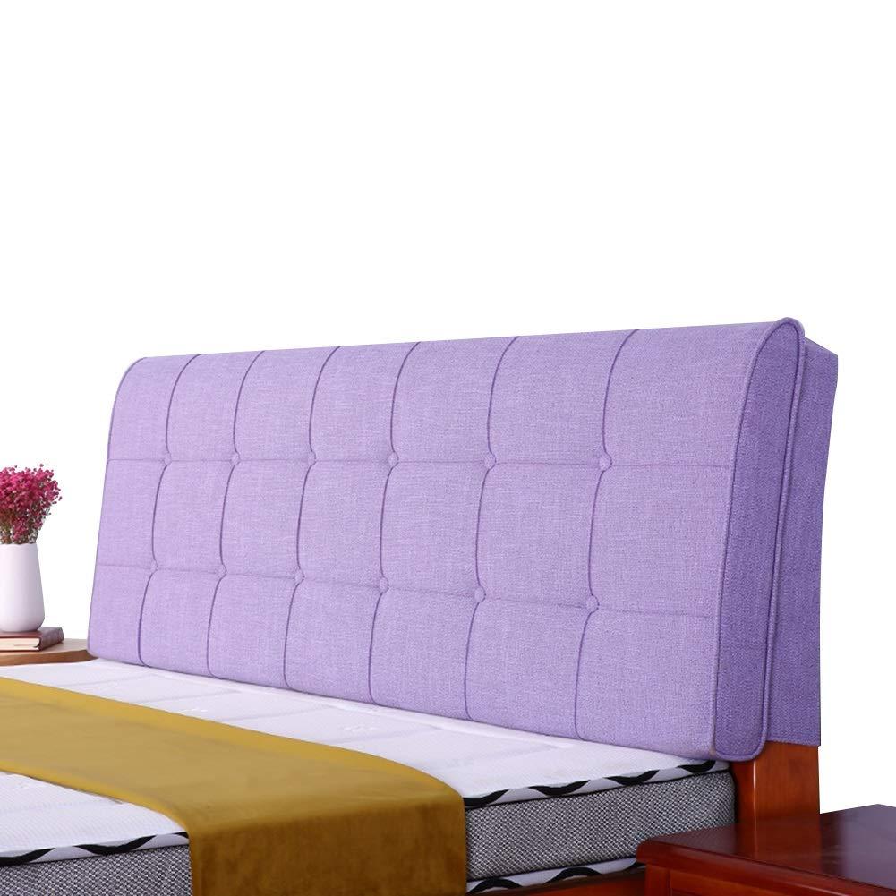 LIANGLIANG クションベッドの背もたれベッドの背もたれ ソファソフトバッグ 読み物 ボディポジショナー リネン 防汚 快適 スポンジ 、3色、12サイズ (色 : Purple, サイズ さいず : 190x58x10cm) 190x58x10cm Purple B07PLM7YD8
