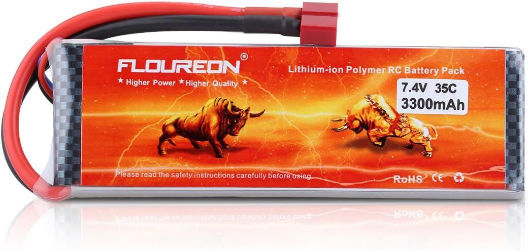 Bateria Lipo 2S 7.4V 3300mAh 35C 135x44x13mm 196gr Floureon