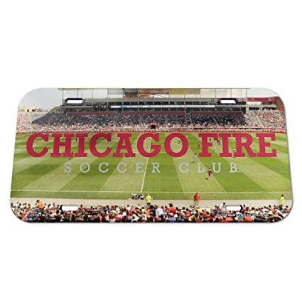 SOCCER Crystal Mirror License Plate