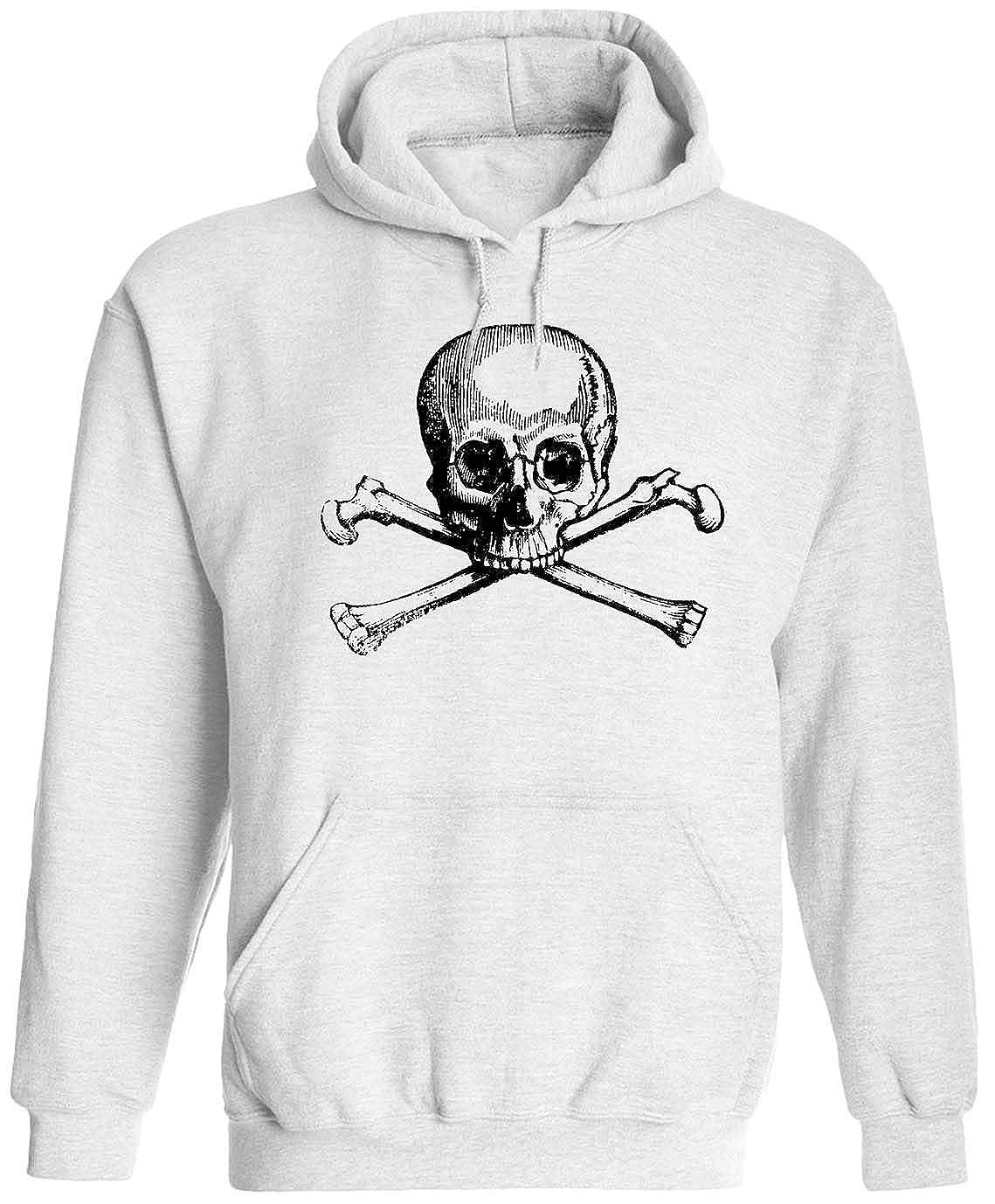 Austin Ink Apparel Skull and Crossbones Unisex Adult Hooded Pullover Sweatshirt