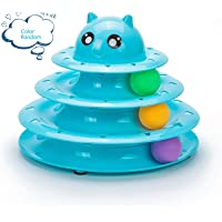Mumoo Bear Cat Toy Roller 3 Layers Tower Tracks Roller with 3 Colorful Ball Interactive Kitten Fun Mental Physical…