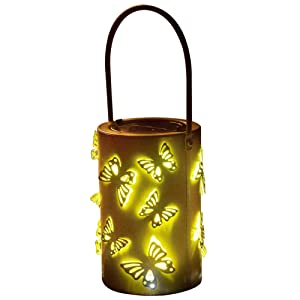 Solar Hanging Lantern for Outdoors Vintage Butterfly Night Lights Pathway Decorations Fairy Lighting Christmas Garden Yard Patio Landscape Wedding Birthday Party Home Decor Gift