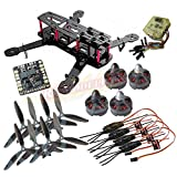 powerdayH250 (like QAV250) Carbon Quadcopter kit+Tarot MT2204Ⅱ 2300KV Brushless motor+ Emax 12A ESC+CC3D FC +6045 3-blade Props+Matek Power Hub Board