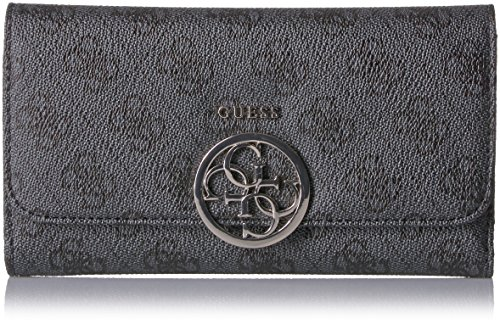GUESS Kamryn 4G Logo Multi Clutch Wallet, Coal , One Size