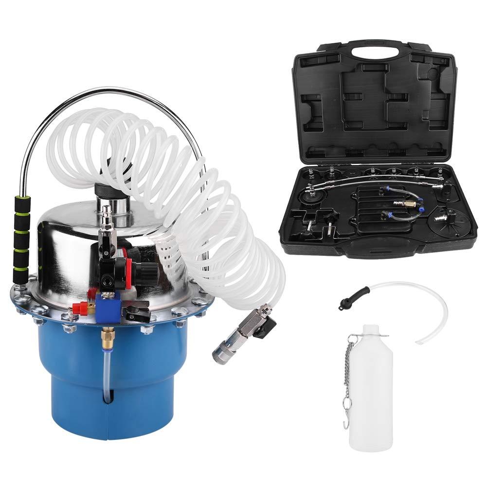 SOULONG Purgador de Frenos de Aire comprimido Dispositivo de Cambio de l/íquido de Frenos con un man/ómetro Dispositivo de Seguridad para purgar Frenos de Metal y pl/ástico de Calidad