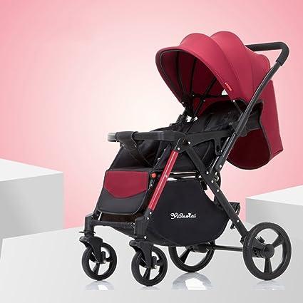 XUERUI Carrito De Bebé Carrito De Bebé Cómodo Hermoso Comodidad Seguridad 4 Colores Tienda (Color