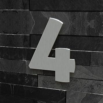 Hausnummer Modern colours manufaktur hausnummer nr 4 schriftart modern höhe 20