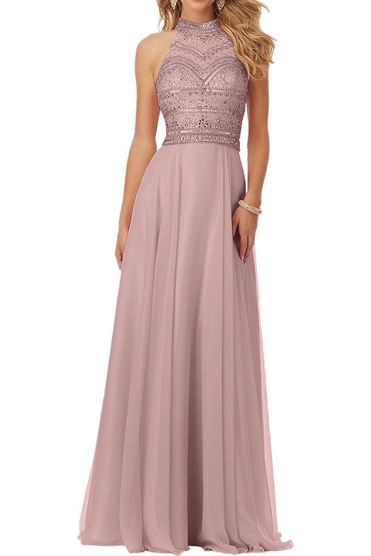 Milano Bride 2018 Neu Herrlich Chiffon Steine Abendkleider ...