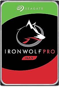 "Seagate IronWolf Pro, 16 TB, NAS, Disco duro interno, HDD, CMR 3,5"" SATA 6 GB/s, caché 256 MB, almacenamiento RAID, 3 años de servicios Rescue (ST16000NE000)"