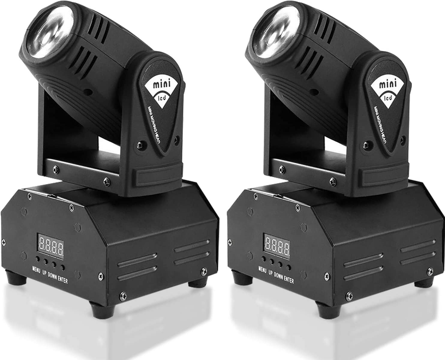 Amazon.com: MFL. 10w LED Moving Head Light RGBW Stage Light Mini Moving  Beams Rotating Moving Head DMX512 Sound Activated Master-slave Auto Running  for DJ Party Disco KTV Nightclub Lives 2 pcs(Beam Light):