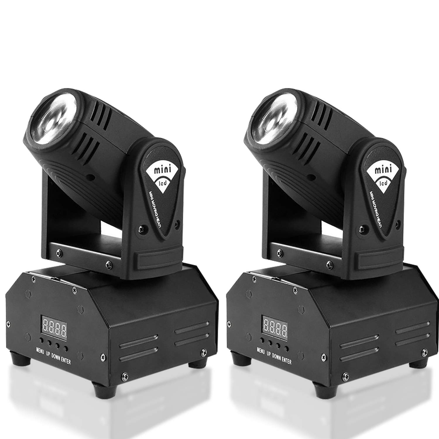 MFL. 10w LED Moving Head Light RGBW Stage Light Mini Moving Beams Rotating Moving Head DMX512 Sound Activated Master-slave Auto Running for DJ Party Disco KTV Nightclub Lives 2 pcs(Beam Light) by MFL.