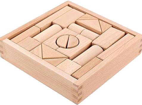 YZH Bloques de construcción/Caja de Madera para niños ...