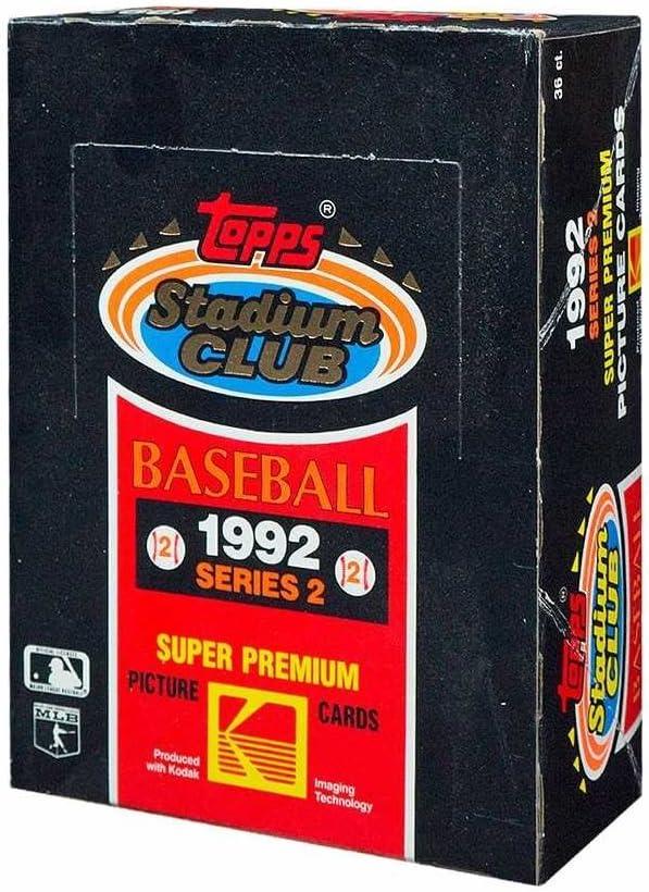 1992 Topps Stadium Club Baseball Series 2 Hobby Box