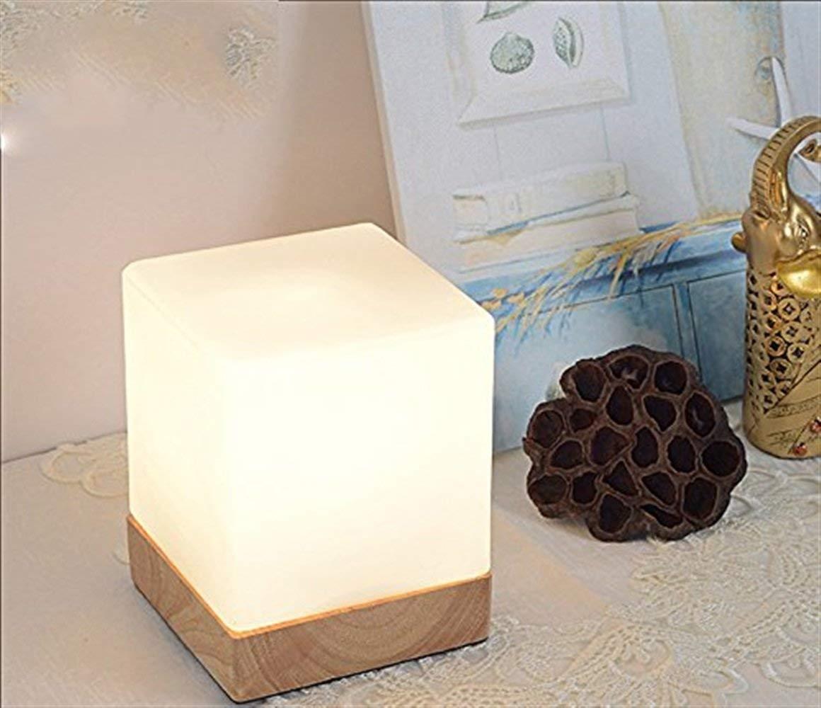 MEIDI Home Kinderzimmer Dekoration Tischlampe Massivholz Tischlampe, Einfache Schlafzimmer Nachttischlampe Studie Schreibtisch Bar Lampe