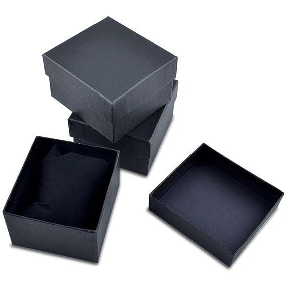 12 cajas de reloj-cajas de joyas de colour negro, caja de reloj-joyas caja con suave cojín de terciopelo: Amazon.es: Relojes
