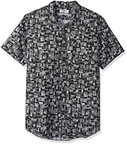 Billabong Men's Sundays Mini Short Sleeve Shirt Black Medium