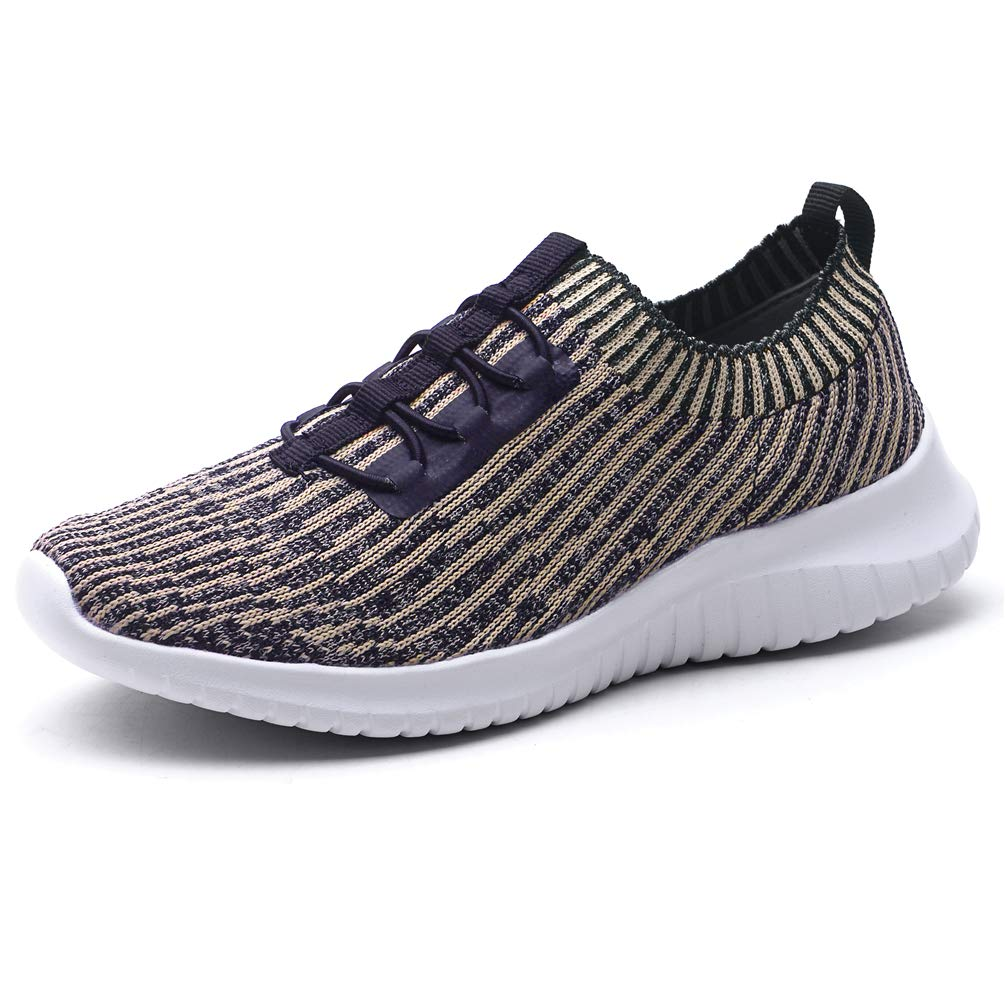 KONHILL Women's Lightweight Athletic Running Shoes Walking Casual Sports Knit Workout Sneakers