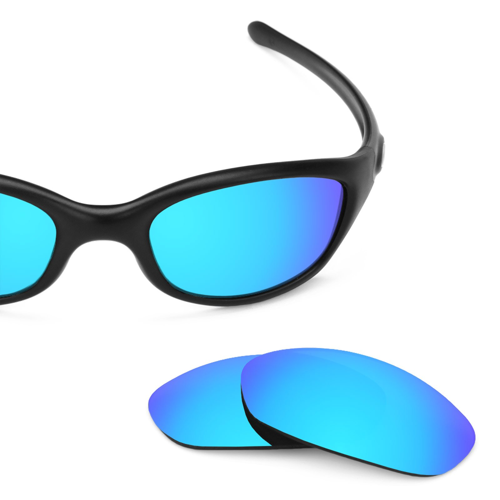 Revant Polarized Replacement Lenses for Oakley Fives 2.0 Ice Blue MirrorShield
