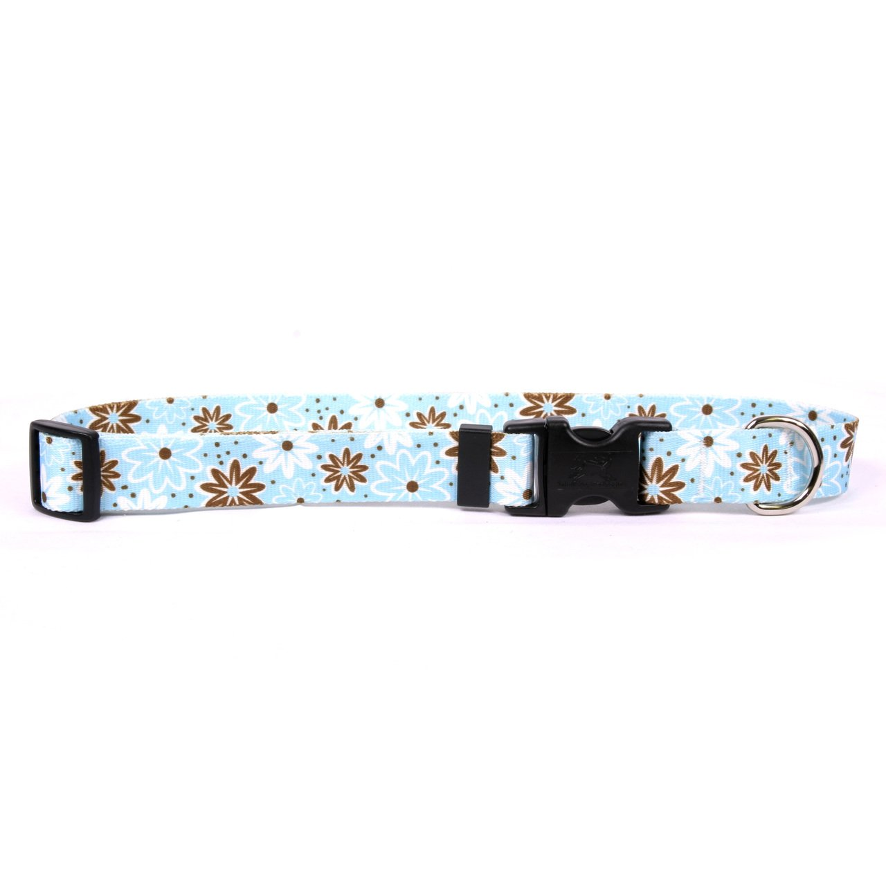 Yellow Dog Design Daisy Chain bluee Dog Collar 3 8  Wide And Fits Neck 8 To 12 , X-Small
