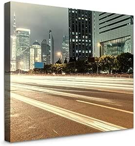 Amazon.com: XShero Modern Artwork Canvas Wall Art Shanghai