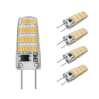 G8 bombilla LED 3 W reemplazar 30 W G8 bombilla halógena blanco cálido 3000 K T4