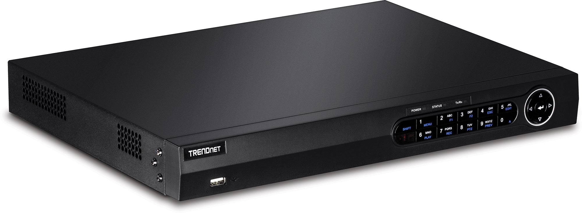 TRENDnet 8-Channel 1080p HD PoE+ Network Video Recorder, 2 SATA II Bays for up to 12TB storage, Easy Install, HDD, DNS, IPv6 Compliant, ONVIF, Rack Mount Hardware Included, TV-NVR208