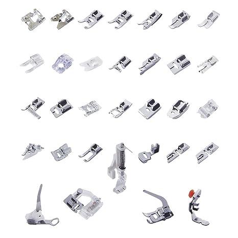 Un Set con 32 Piezas Prensatelas Accesorios para Máquina de coser