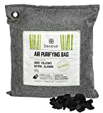 Deneve Bamboo Air Purifying Charcoal Bag, Natural Odor Absorber Bags Non Toxic No Chemical Air Freshener Scent Eliminator Moisture Closet Dehumidifier Fragrance-Free Deodorizer