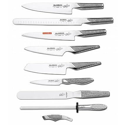 Compra Global Michel Roux 9 piezas Juego de cuchillos Global ...