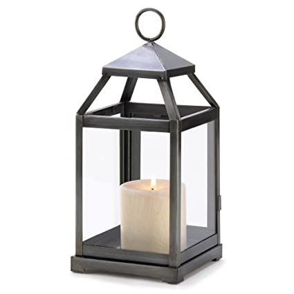 Amazon.com: 15 Wholesale Rustic Silver Contemporary Candle Lantern ...