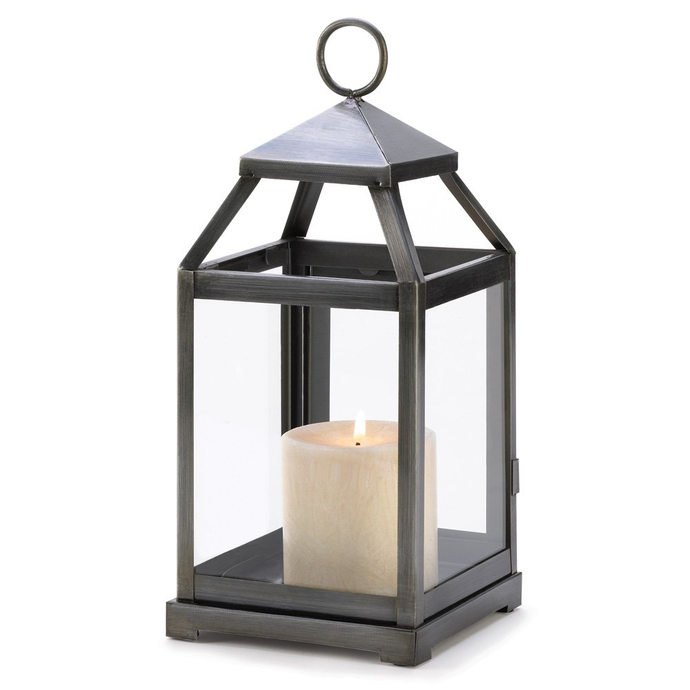 Tom & Co. 10 Wholesale Rustic Silver Contemporary Candle Lantern Wedding Centerpieces