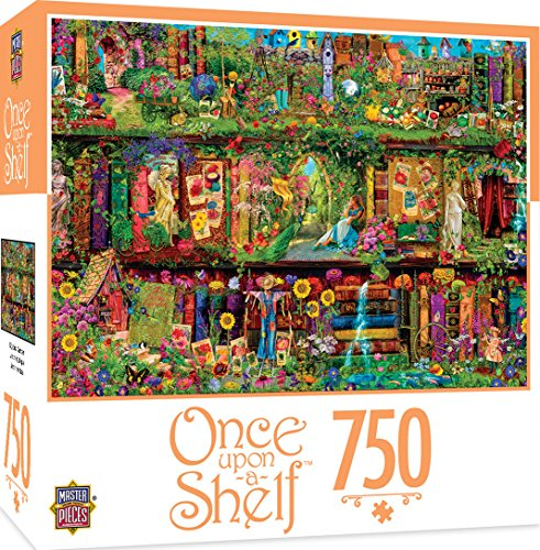 MasterPieces Once Upon a Shelf Mystical Garden - Garden of Books 750 Piece Jigsaw Puzzle by Aimee Stewart from MasterPieces
