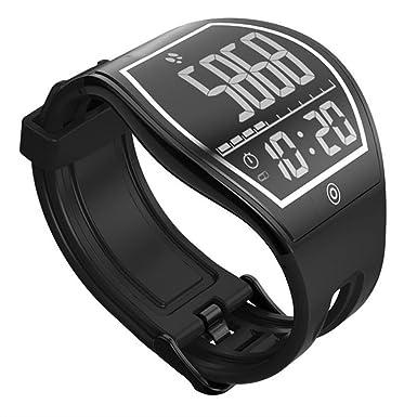 Superficie curvada pantalla E-Ink Fitness Tracker podómetro reloj, una pantalla táctil, Bluetooth