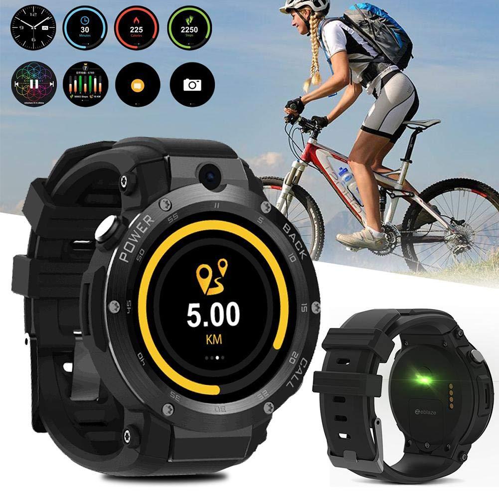 332PageAnn 3G GPS Reloj Inteligente Hombre, Bluetooth Fitness Tracker Deportivo Pulsera Reloj 1GB + 16GB Smartwatch Soporte para Android iOS: Amazon.es: ...