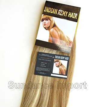 Amazon indian remy human hair extension weave 18 color 27 indian remy human hair extension weave 18quot color 27613 mixed blonde pmusecretfo Gallery