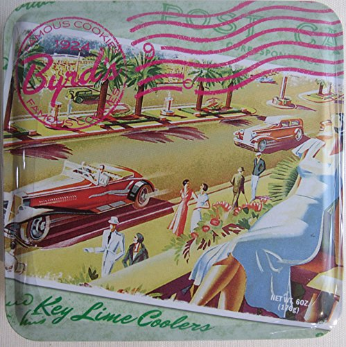 Travel Postcard Tin Key Lime Coolers Cookies - Cookie Tin from Byrd Cookie Company