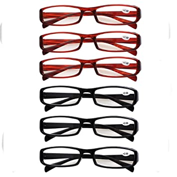 Southern Seas 6 Pairs Value Pack Unisex (3x Black, 3x Tortoiseshell) Reading Glasses Strength +1.50 by Southern Seas