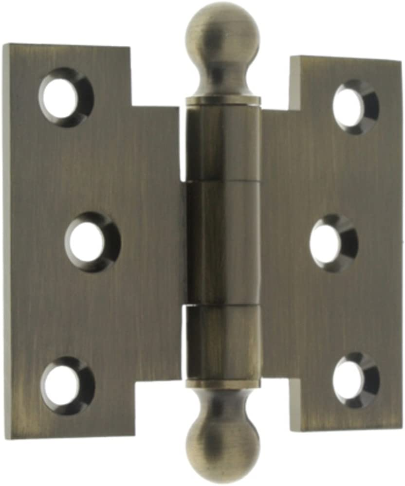 "One Pair of Polished Brass Parliament Hinges 4/"" x 3/"" x 5/"""
