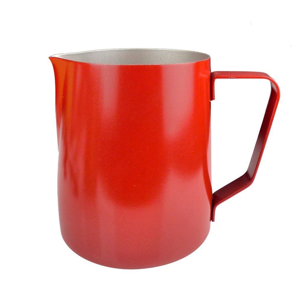 Weiyi実用的ステンレススチールミルク水コーヒーFrothing Jugアートピッチャー_ 350ml (レッド)   B07599ST6C