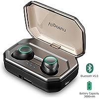 Auricolari Bluetooth 5.0, Vigorun Cuffie Wireless Senza Fili Sportivi 3000mAh Custodia da Ricarica 100h Auricolare Stereo IPX6 CVC 8.0 Cancellazione Rumore e Microfono per Samsung iPad Huawei…