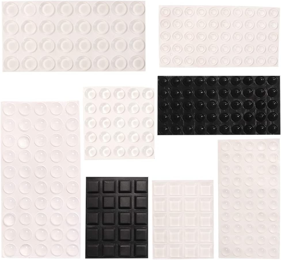 Clear Rubber Bumpers Pads 297 Pieces , Stick on Cabinet Bumpers,8 Sizes- ONEETIS
