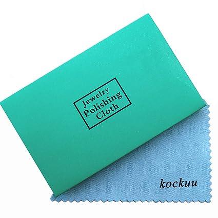 kockuu - Juego de 10 paños de Limpieza para Joyas (latón y Cobre, Chapado