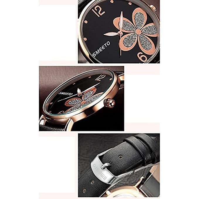 Amazon.com: 2018New Womens Quartz Watch, Ultra-Thin Four-Leaf Leathe Strap Fashion Womens Diamond Watch Boutique Minimalist Round Dial Analog Alloy Wrist ...