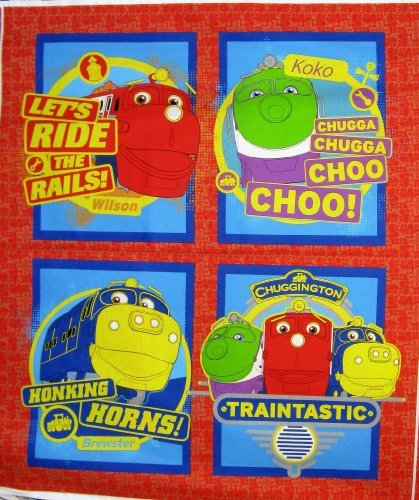 42'' Wide Chuggington Pillow Cotton Fabric By The Panel