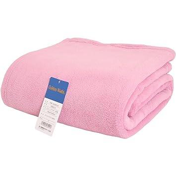 東京西川 毛布 シングル マイクロファイバー 洗える あったか 無地 ピンク 軽量 140×200cm ブランケット シングル