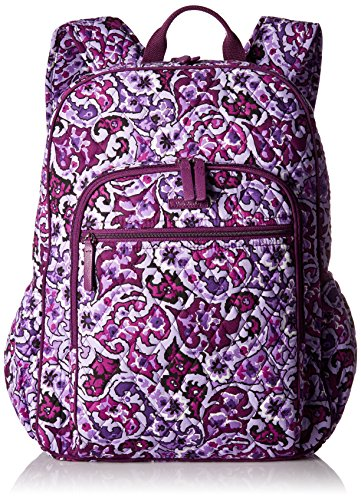 Vera Bradley Women's Campus Tech Backpack-Signature, Lilac Paisley by Vera Bradley