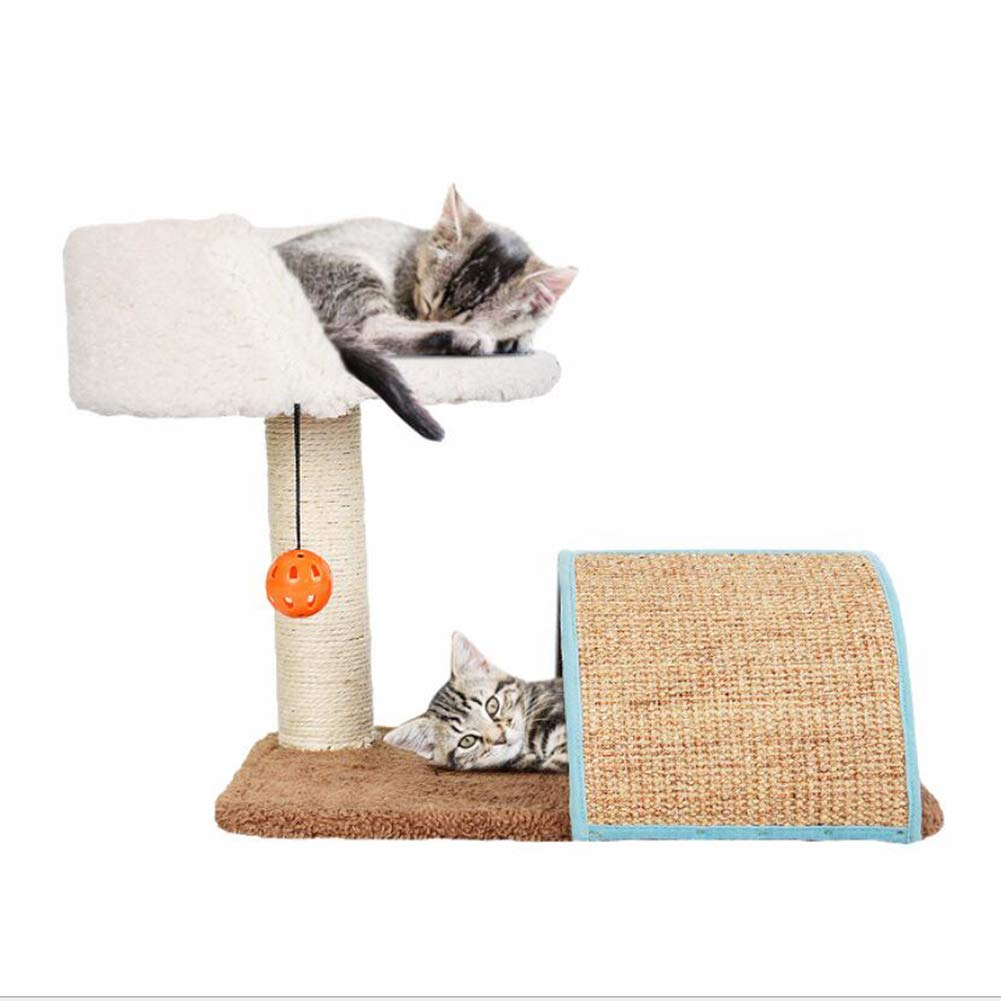 LSS Cat Climbing Frame, Cat Tree and Tower, Cats Scratch Board, Cat Jumping Platform, Large Size, Sisal Toy